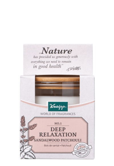Kneipp Scented Candle / Geurkaars Sandalwood-Patchouli