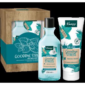 Dárková sada Goodbye Stress obsahující sprchový gel a tělové mléko