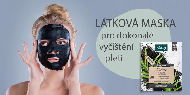 Látková pleťová maska Detox care