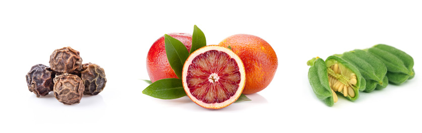 Černý pepř, červený pomeranč a indický sezam dodávají to správné aroma