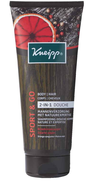Sport & Go Shampooing-Douche Homme Nature et Expertise - Orange sanguine Poivre noir